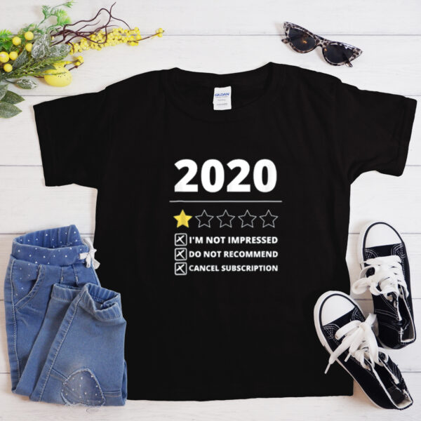 2020 Review 1 Star Rating T Shirt