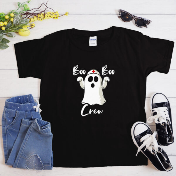 Boo Crew Funny Halloween Costume T-Shirt
