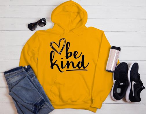 Cute be kind Heart Hoodie