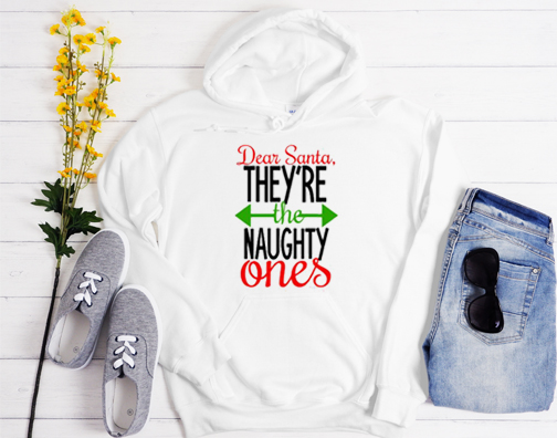 Dear Santa They're The Naughty Ones Hoodie