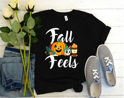 Fall feels halloween thanksgiving cute autumn pumpkin spice T-Shirt