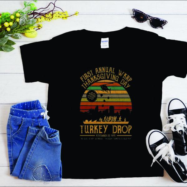 First annual WKRP thanksgiving day Turkey drop T-shirt