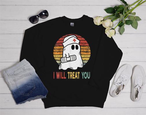 Nurse Halloween costumes for women Retro Halloween 2020 Sweatshirt