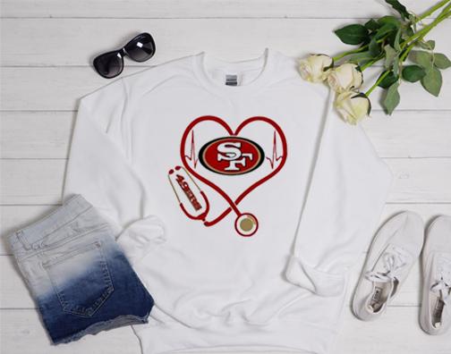 Nurse heart San Francisco 49ers Nice Looking Sweatshirt