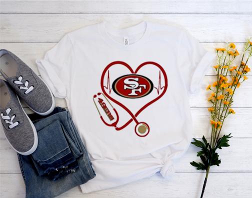 Nurse heart San Francisco 49ers T shirt