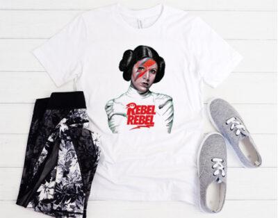Princess Leia David Bowie's Iconic Lightning Bolt T-shirt