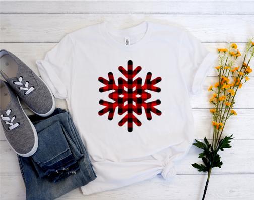 Red Buffalo Plaid Christmas Snowflake Shirt