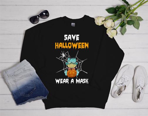 Save Halloween Wear a Mask 2020 Funny Sweatshirt