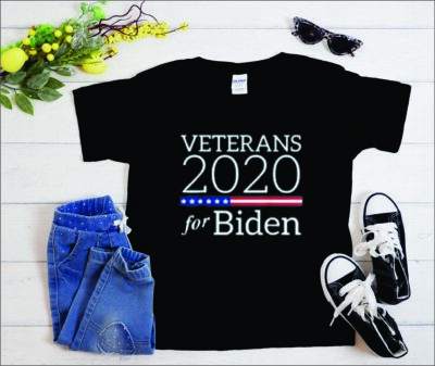 Veterans for Biden t shirt