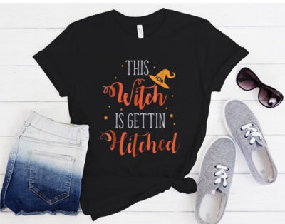 Witch Is Getting Hitched-Halloween T Shirt