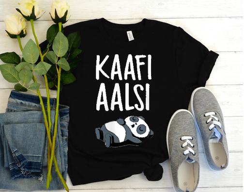 kaafi Aalsi Panda T Shirt