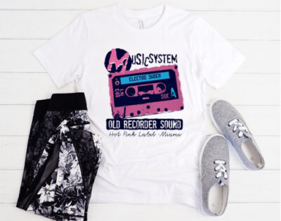music system old recorder sound t-shirt