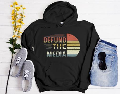 defund the media vintage retro Hoodie