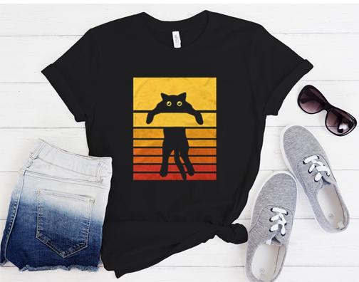 Cat Retro T Shirt