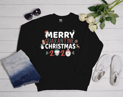 Christmas Merry Quarantine Family 2020 Sweatshirt