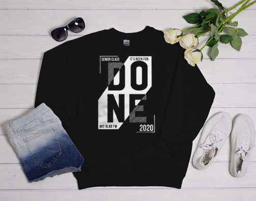 Done Senior 2020 Athletic Sweatshirt