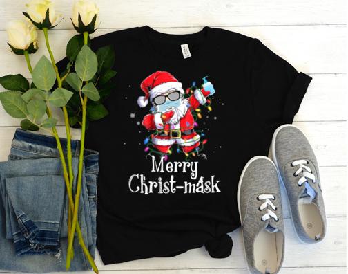 Funny Christmas 2020 Santa Dabbing Wearing Mask T Shirt