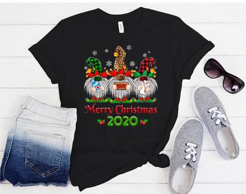Merry Quarantine Christmas 2020 Gnome Wearing Mask Pajama T-Shirt
