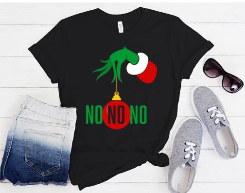 No No No - Grinch Style Anti-Christmas Funny T-Shirt