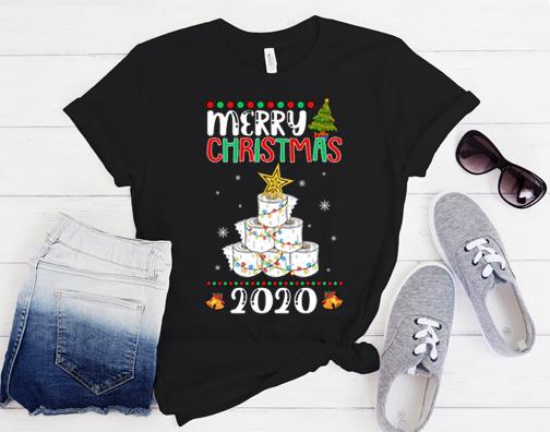 Quarantine Christmas Toilet paper tree Merry Christmas 2020 Gift Shirt