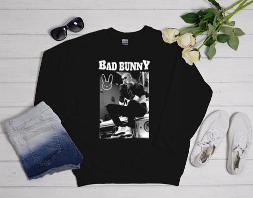 Bad Bunny Black and White Sweatshirt