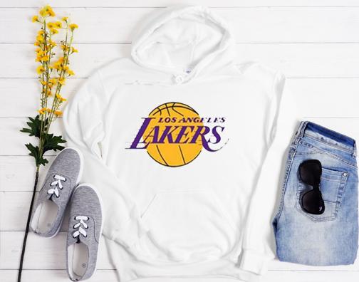 Los Angeles Lakers White Hoodie