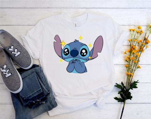 Lovely Cartoon Lilo & Stitch T Shirt