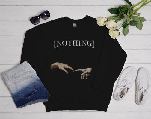 Nothing Creation Of Adam Hands Sweatshirt