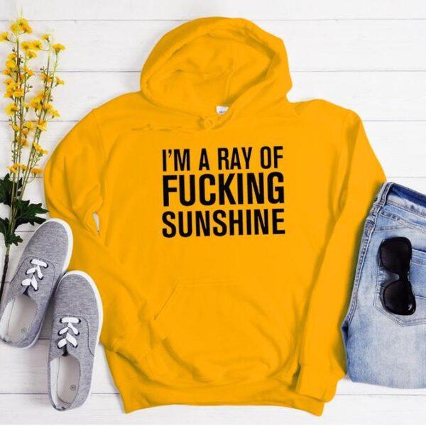 I'm A Ray Of Fucking Sunshine Men Women Hoodie