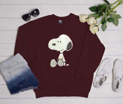 Snoopy Maroon Sweatshirt