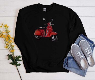 vespa scooter sweatshirt