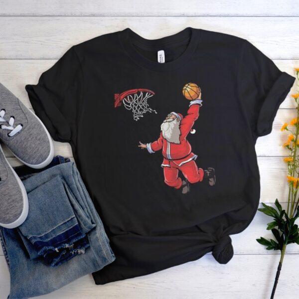 Basketball Santa Christmas Hat Ball comfort T-Shirt