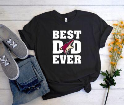 Best Dad Ever Arizona Coyotes Hockey Team Men Women Graphic T Shirt