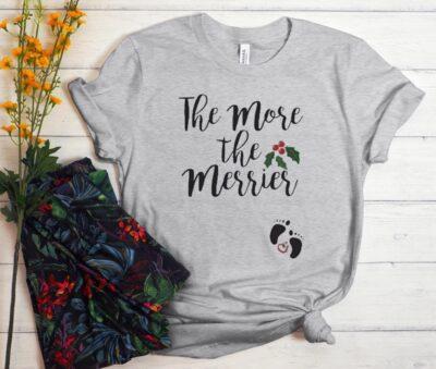 Christmas Pregnancy Announcement T-Shirt
