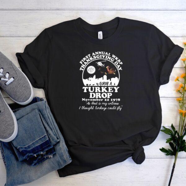 First annual WKRP thanksgiving day Turkey drop Men Women Graphic T-shirt