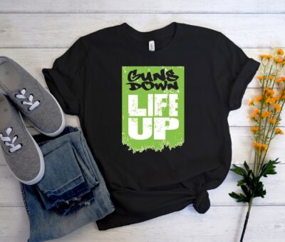Guns Down Life Up Urban Unisex Trending Graphic T Shirt