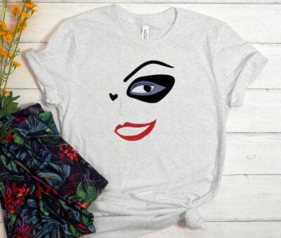 Harley Quinn Face Girl Unisex Trending Graphic T Shirt