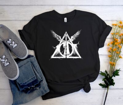 Harry Potter Deathly Hallows Unisex Trending Graphic T-Shirt