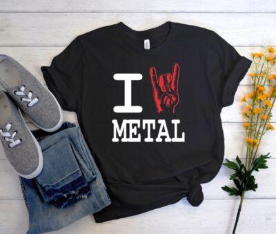 I Heart Metal New T Shirt